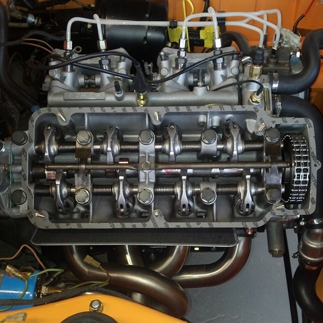 Completely rebuilt engine with Alpina fuel injection, 304 cam, and walloth and kesch headers #bmw #bmw2002 #bmwgram #bmwclassic #bmwrestoration #m10 #2002tii #alpina #rare #wallothkesch #cars #carporn #carlook #carswithoutlimits #bimmergram #sportscarrestoration #thecarlife