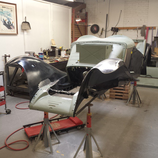 The 1949 MG TC is moving along.