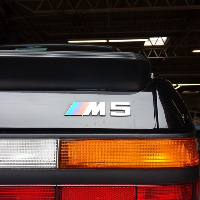 A lovely M5 in for seasonal servicing.
