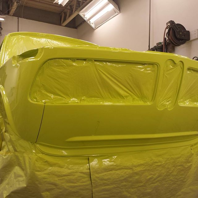 Freshly Applied BMW Golf Yellow. @fcpeuro