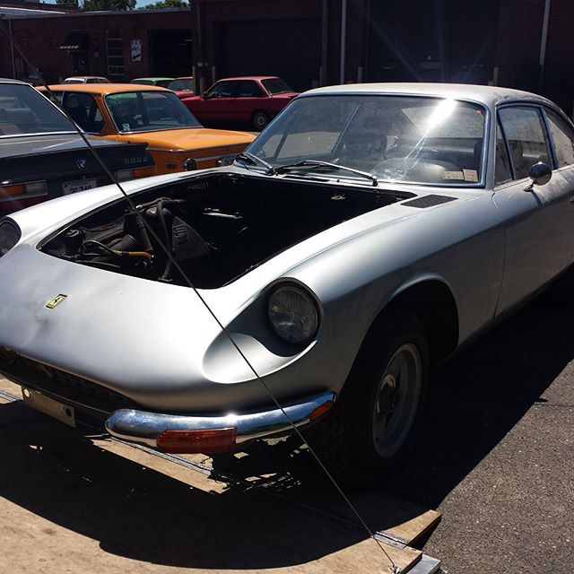 69 Ferrari 365GT 2+2, nice and dusty. @churchillclassics