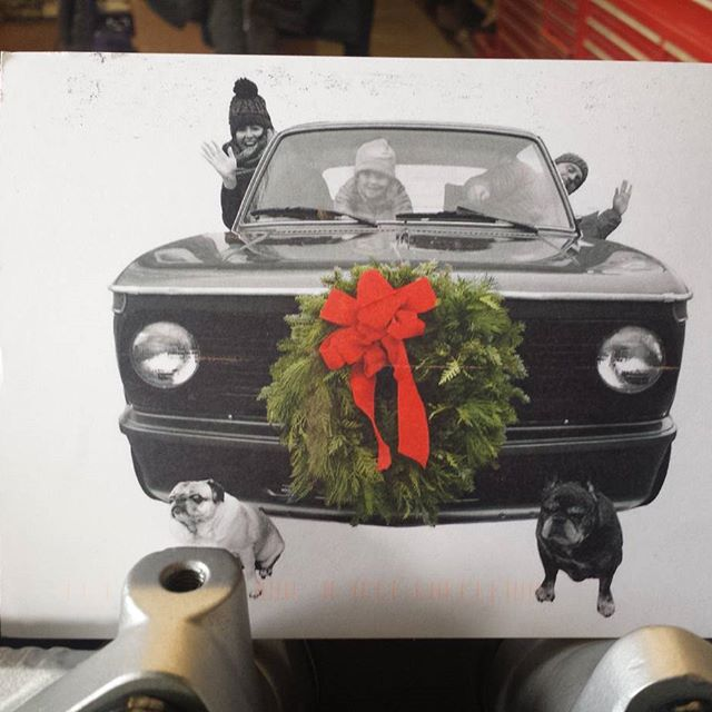 Best Christmas card ever to arrive at our humble restoration shop